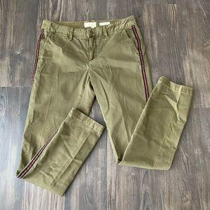 Anthropologie Tuxedo Style Green Chino Pants